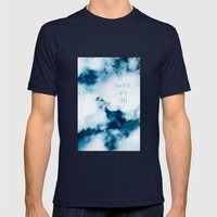 clouds Mens Fitted Tee Navy SMALL