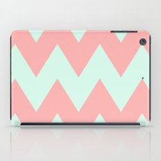 Big Chevron (Coral & Mint) iPad Case