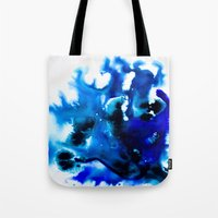 Paint 8 abstract indigo watercolor painting minimal modern canvas art affordable home decor trendy Tote Bag
