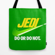 Brand Wars: Jedi - green lightsaber Tote Bag