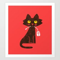 Fitz - Hungry Hungry Cat… Art Print