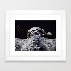 Spaceman (blue) Framed Art Print