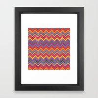 Colourful Chevrons Framed Art Print