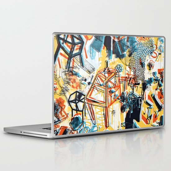yellowredblueandblack Laptop & iPad Skin