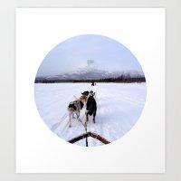 Telescope 7 Husky Art Print