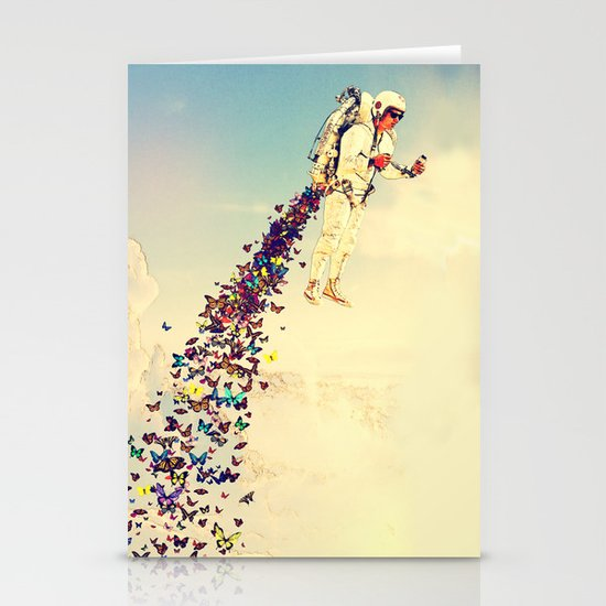 Leave It All Behind Stationery Card