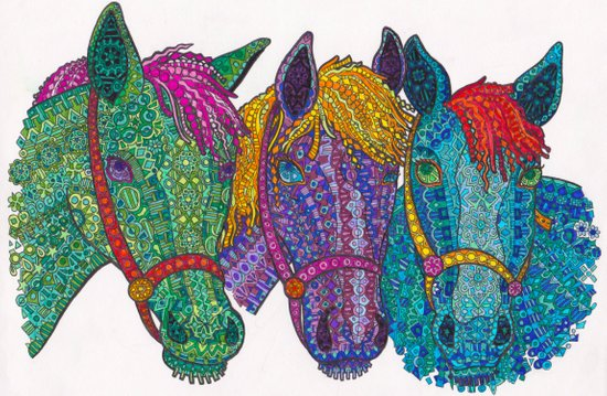 Horse Triptych #1 Art Print