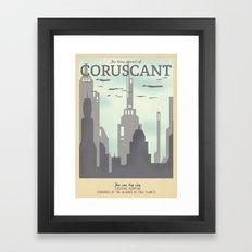 Retro Travel Poster Seri… Framed Art Print