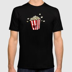 Buttered Popcorn SMALL Black Mens Fitted Tee