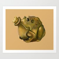 Toad Powder Bomb Art Print