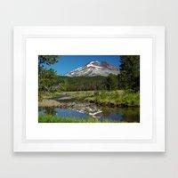 South Sister Mountain, Central Oregon Framed Art Print
