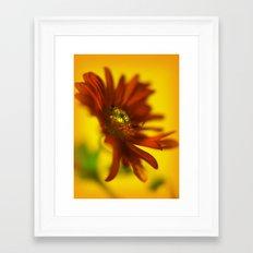 Red & orange Framed Art Print