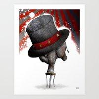 Circus ∫ Animal Surrea… Art Print