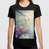 The Song Of A Spring Sky Womens Fitted Tee Tri-Black SMALL