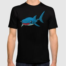 Whale Shark SMALL Black Mens Fitted Tee