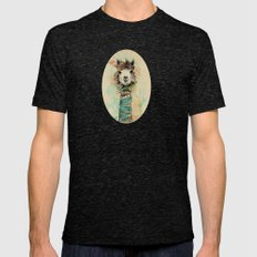 Lama Mens Fitted Tee Tri-Black SMALL