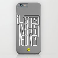 iPhone & iPod Case featuring Lights Out, Words Gone by Diego Maricato