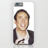 iPhone & iPod Case featuring Nicolas Cage by Thomas Jarry