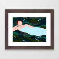 Lady of the Waves Framed Art Print