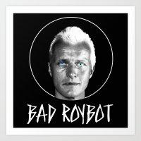 Bad Robot (White Letteri… Art Print