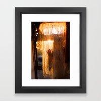 golden lace Framed Art Print