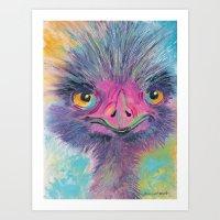 Savannah Ostrich Art Print