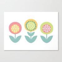 Geometric Flower Print  Canvas Print