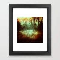 Light Leak Forrest Framed Art Print