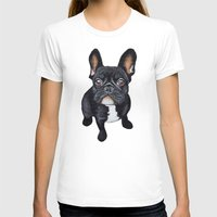 french T-shirts featuring French Bulldog by PaperTigress