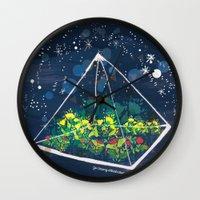 The Greenhouse at Night Wall Clock