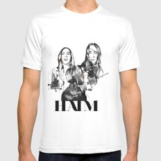 Haim the band Mens Fitted Tee SMALL White