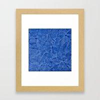 Vibrant Light Blue Plaster Framed Art Print
