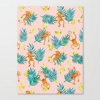 Tropical Monkey Banana B… Canvas Print