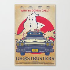 Who ya gonna call? Ghostbusters Movie Poster Canvas Print
