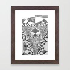 Trifold  / / #fractal #fractals #3d Framed Art Print
