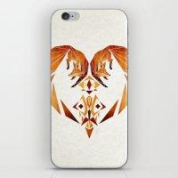 foxes heart  iPhone & iPod Skin