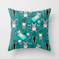 Fitness For Cats Throw Pillow