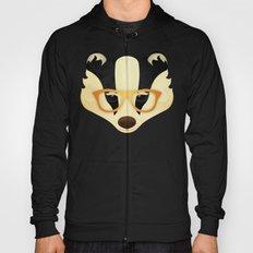 Hipster Badger: Gold Hoody