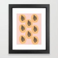 Papaya Print Framed Art Print