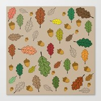 Oak pattern Canvas Print