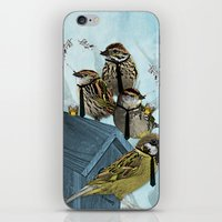 Smoking Birds Print iPhone & iPod Skin