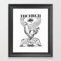 thchrch rooster Framed Art Print