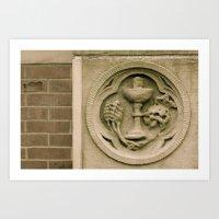 Brick And Stone Carving Art Print