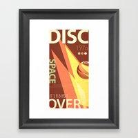 Vintage Space Poster Ser… Framed Art Print