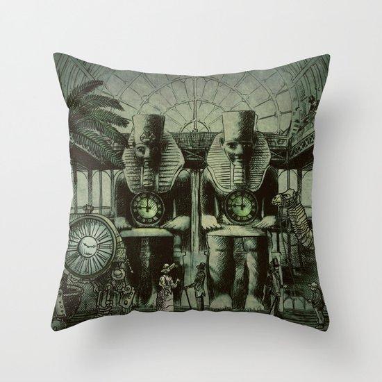 The Antiquities Market Throw Pillow