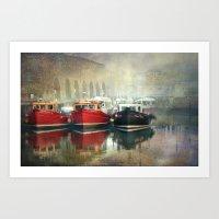 Fishing Boats at Seahouses Art Print