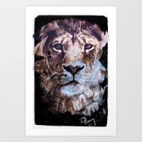 Heterochromia Iridum Art Print