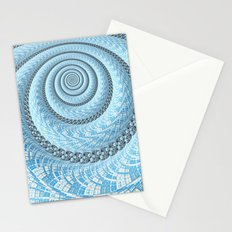Spiral in Light Blue Stationery Cards