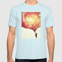 The Universe In A Soap-b… Mens Fitted Tee Light Blue SMALL