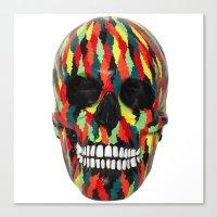 Upoko Skull Canvas Print